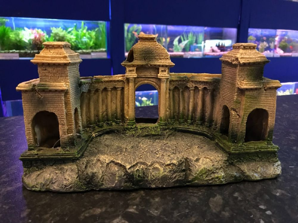 Large Grecian Ruin Aquarium Ornament